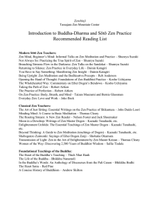 Introduction to Zen Reading List
