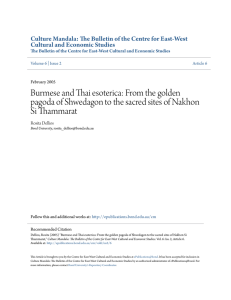 Burmese and Thai esoterica - ePublications@bond