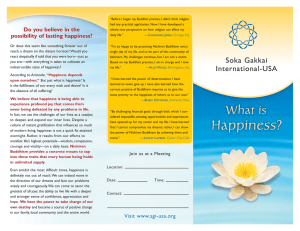 What is Happiness? - Soka Gakkai International
