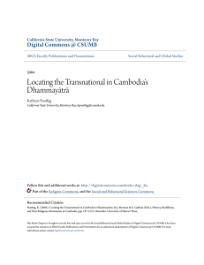 Locating the Transnational in Cambodia`s Dhammayātrā