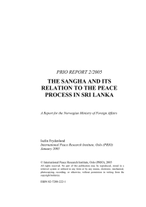 the sangha and its relation to the peace process in sri lanka