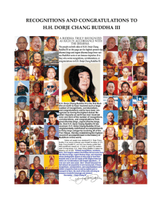 recognitions and congratulations to hh dorje chang buddha iii