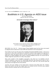 Buddhists in U.S. Agonize on AIDS Issue