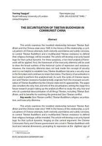 the securitisation of tibetan buddhism in communist china