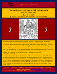 Foundations of Vajrayana Retreat: Ngondro