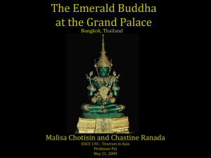 The Emerald Buddha at the Grand Palace, Bangkok Thailand