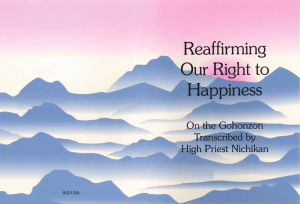 Reaffirming Our Right to Happiness