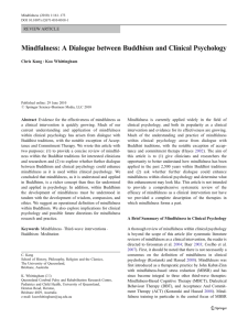 Mindfulness: A Dialogue between Buddhism and Clinical