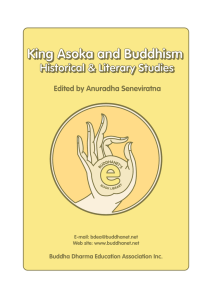 King Asoka and Buddhism