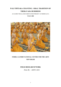 PALI TIPITAKA CHANTING : Oral Tradition of Theravada Buddhism