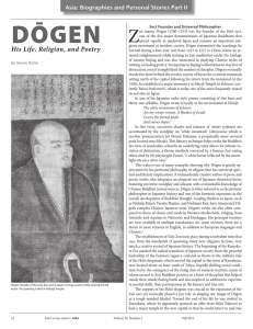 Dogen: His Life, Religion, and Poetry