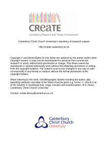- CReaTE - Canterbury Christ Church University