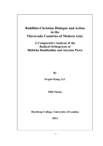 Buddhist-Christian Dialogue and Action in the