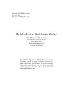 The Relocalization of Buddhism in Thailand