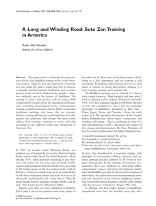 A Long and Winding Road: Soto Zen Training in America