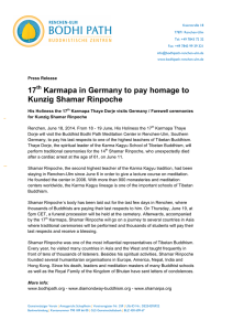 17 Karmapa in Germany to pay homage to Kunzig Shamar Rinpoche
