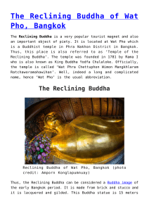 The Reclining Buddha of Wat Pho, Bangkok