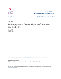 Waking up to the Present: Vipassana Meditation and the Body