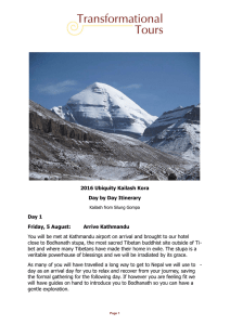 2016 Ubiquity Kailash Kora Day by Day Itinerary Kailash from Silung