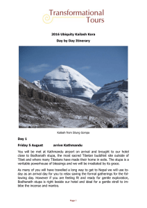 Kailash Kora Itinerary - Transformational Tours