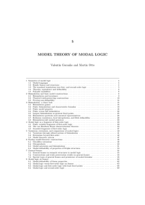 5 model theory of modal logic