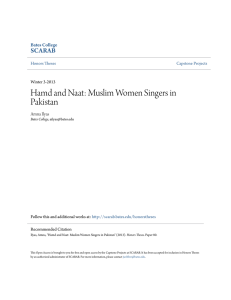 Hamd and Naat: Muslim Women Singers in Pakistan