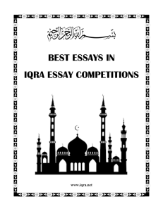 best essays in iqra essay competitions