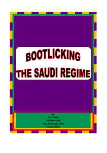Bootlicking The Saudi Regime