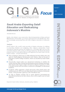 Saudi Arabia Exporting Salafi Education and Radicalizing