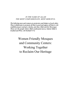 Women Friendly Mosques and Community Centers