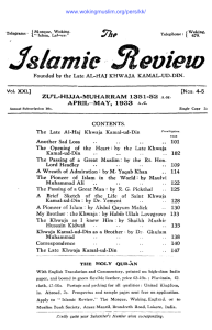 The Islamic Review, April-May 1933