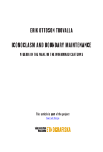 Erik Ottoson Trovalla, Iconoclasm and boundary maintenance