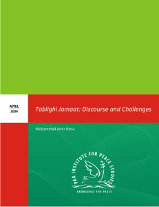 Tablighi Jamaat: Discourse and Challenges