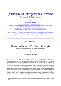 Journal of Religious Culture - Goethe