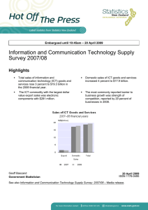 Information and Communication Technology Supply Survey 2007/08