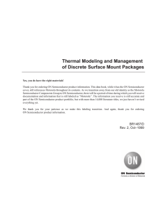 Thermal Modeling and Management of Discrete Surface