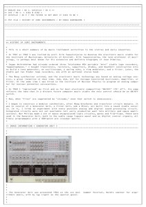 HISTORY OF DIMI INSTRUMENTS > > This is a short summary of