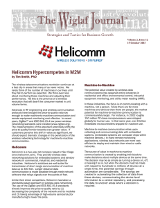 Helicomm Hypercompetes in M2M