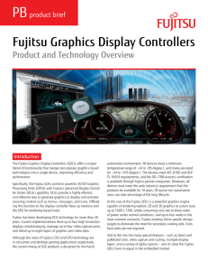 Fujitsu Graphics Display Controllers