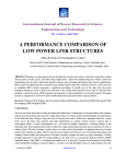 a performance comparison of low power lfsr structures