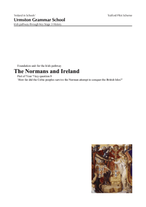 Normans and Ireland - Ireland in Schools