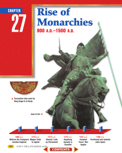 Chapter 27: Rise of Monarchies - Bellbrook