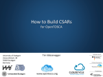 How to Build CSARs - OpenTOSCA Ecosystem
