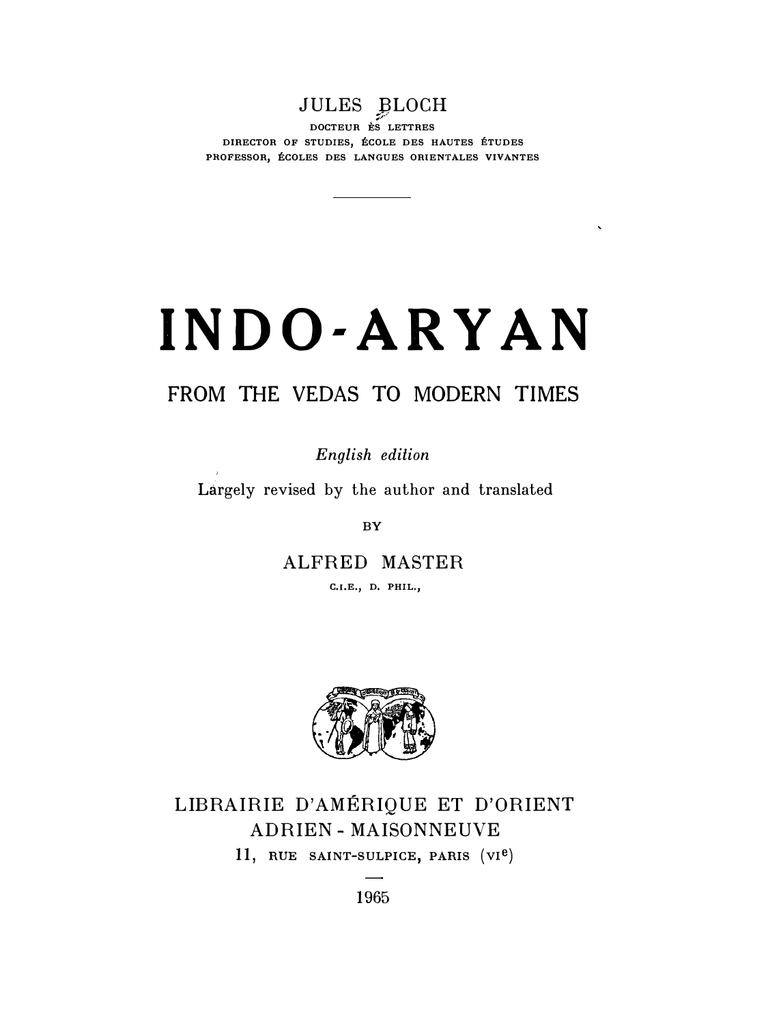 Indo-Aryan: From the Vedas to Modern Times