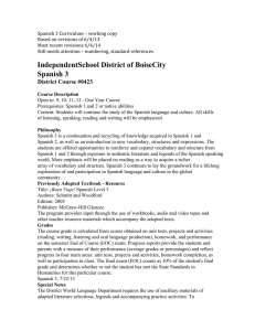 IndependentSchool District of BoiseCity Spanish 3