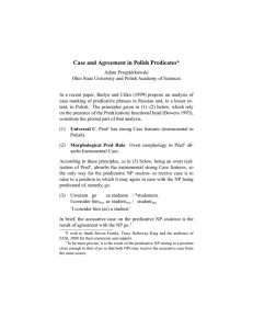 Case and Agreement in Polish Predicates