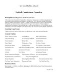 Latin I Curriculum Overview