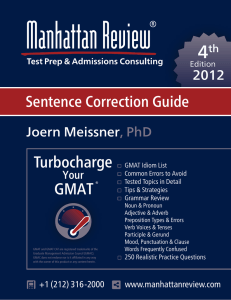 Manhattan Review GMAT Sentence Correction Guide [4th Edition]