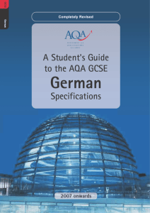 GCSE German Student`s Guide - The Read School Languages Blog