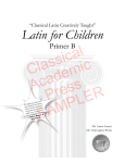 Classical Academic Press SAMPLER
